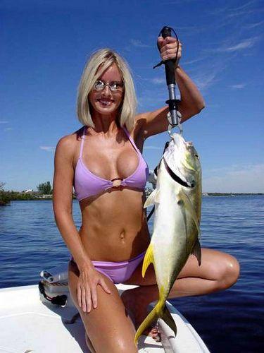Hot milf fishing