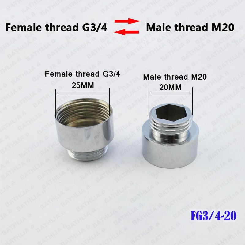 G3/4 Male Thread And Female Thread Kitchen Faucet aerator adapter ...