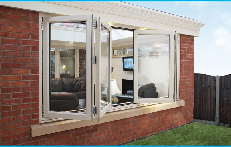 Bifold windows for windows opening to screened in porch for Upvc sliding folding doors