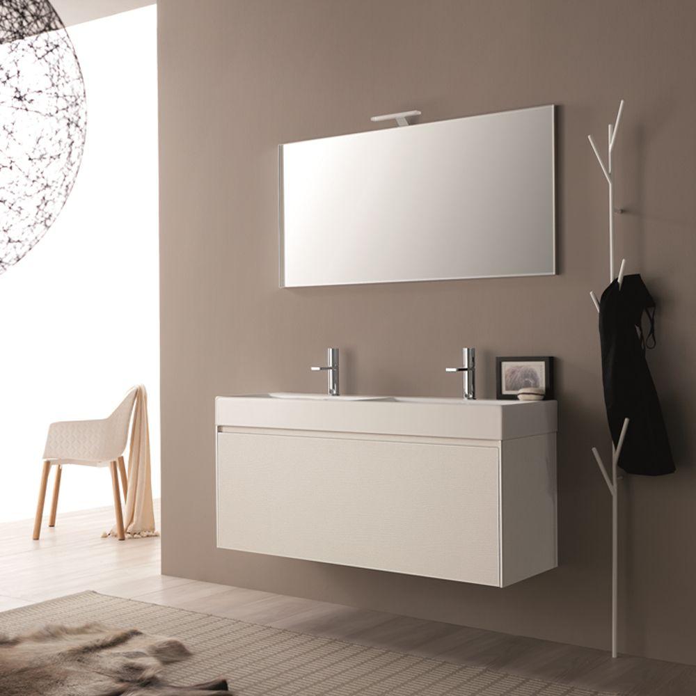 Composizione mobili bagno moderni sospesi Light 45 Novello | NOVELLO ...