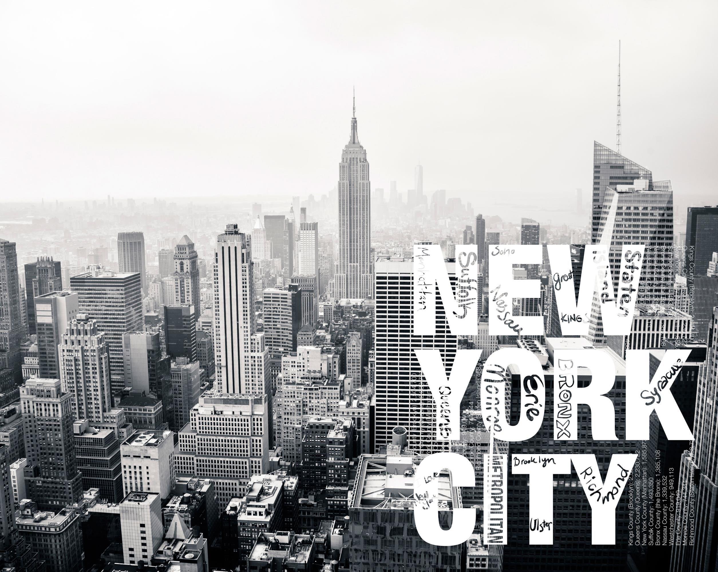 Nyc Wall Mural Wallpaper Murals New York Skyline Window Kertas Dinding