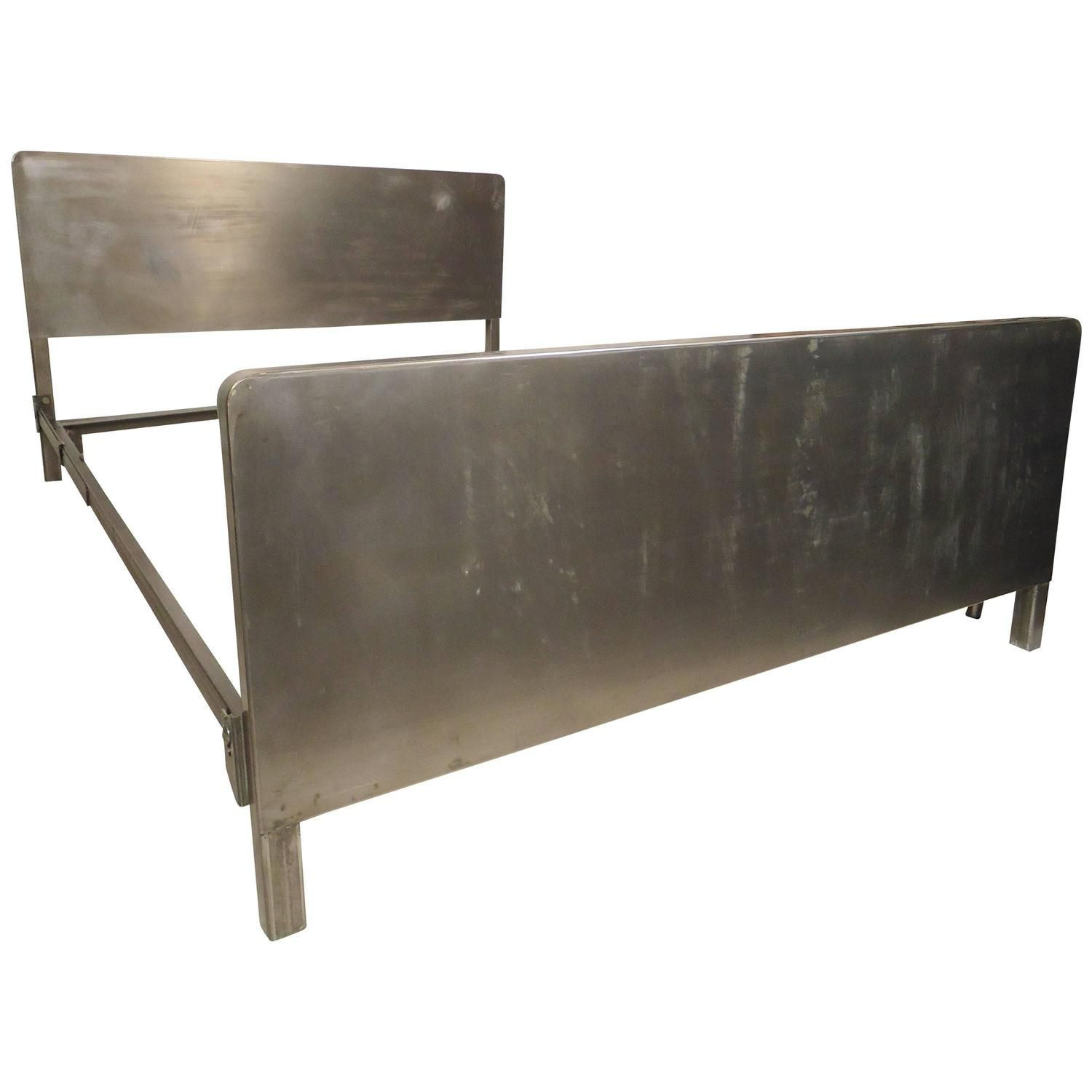Best Vintage Full Size Metal Bed Frame See More Antique And 400 x 300
