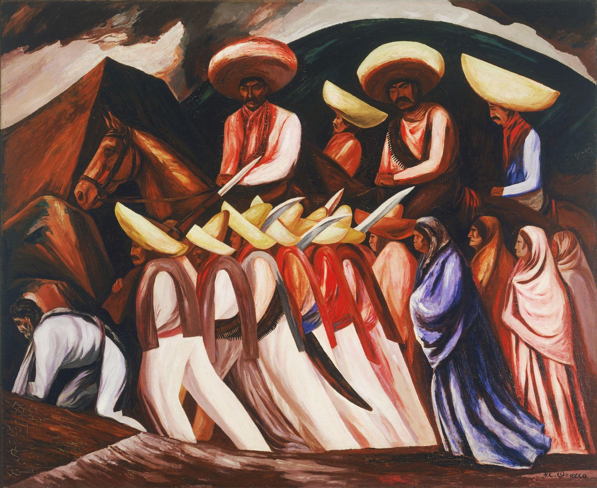 Art HD Print Oil Famous Painting José Clemente Orozco Zapatistas Wall Decor