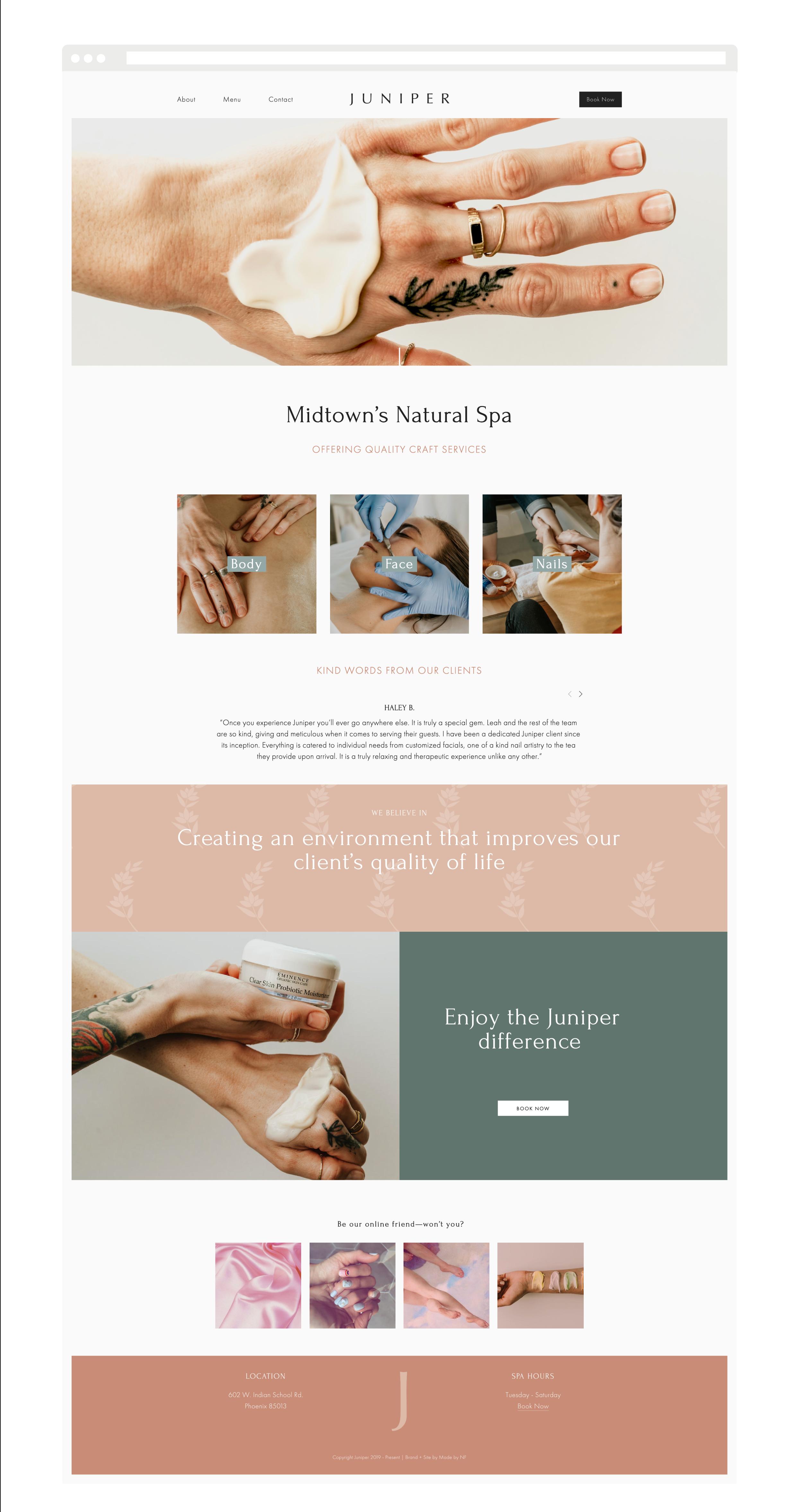Purposeful Branding, Squarespace Website Designer and Brand Photographer — Made by NF — Juniper