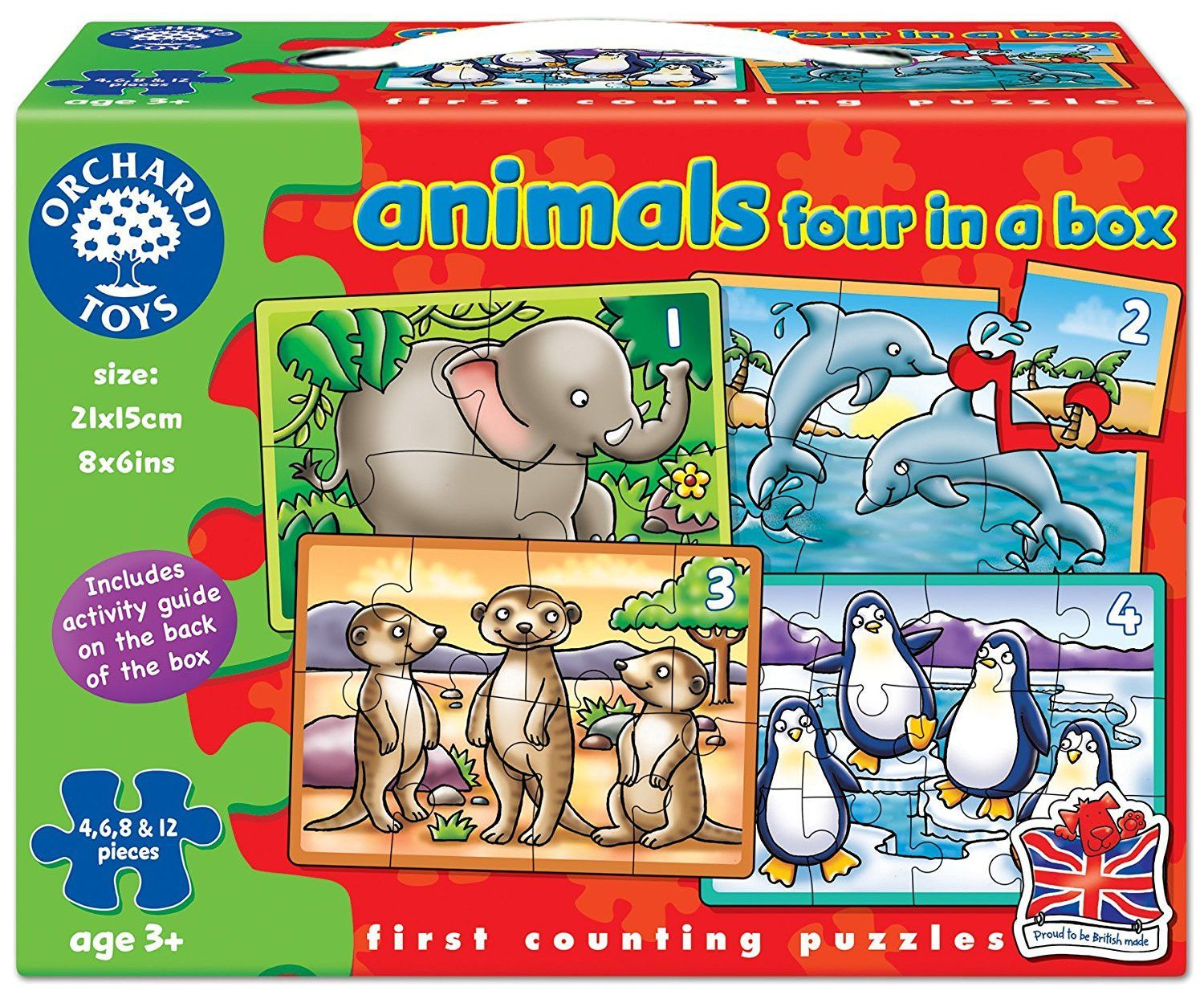 Animals puzzle 4 piece products pinterest products orchard toys animals 4 in a box assorted colours gumiabroncs Image collections