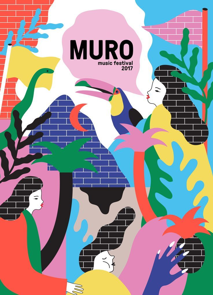 0001fb303c91 Muro is a branding project for a music festival in Sao Paulo