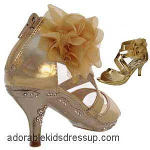 4ca4fd48519 Little Girls High Heels - gold-gz in 2019 | Maddy's Picks! | High ...