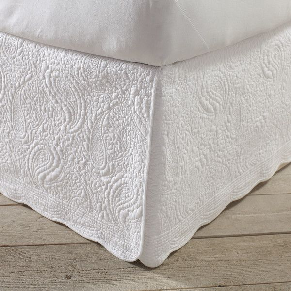 Quilted Bed Skirt | bedroom extras | Pinterest | Quilt bedding ... : quilted bedskirts - Adamdwight.com