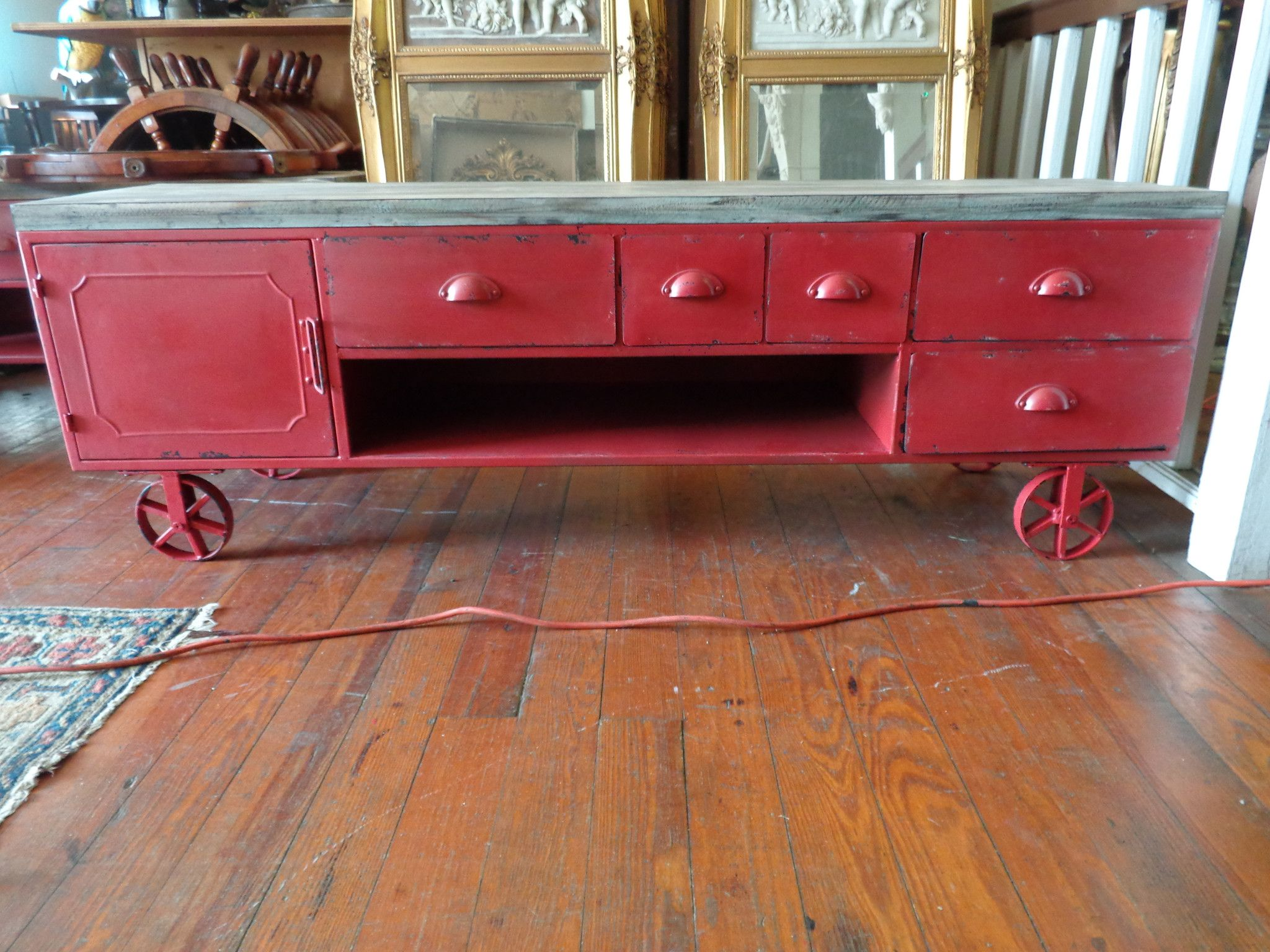Coffee Cart Industrial Table Tv Stand Industrial Design Furniture Vintage Industrial Furniture Industrial Furniture