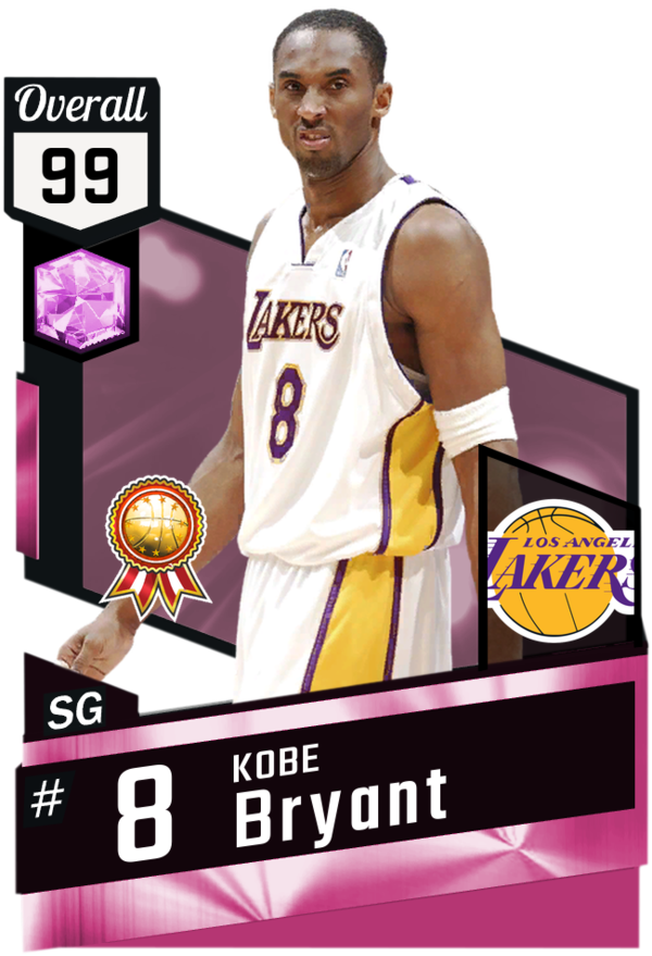 115a23085f8 Kobe Bryant (99) MyTEAM Pink Diamond Card | NBA 2K Cards | Nba ...