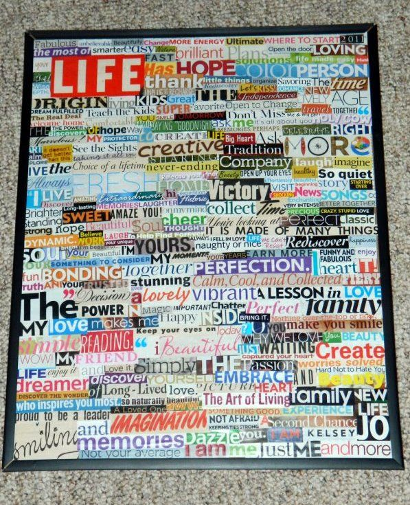 Magazine Cut Out Words Decoration Ideas