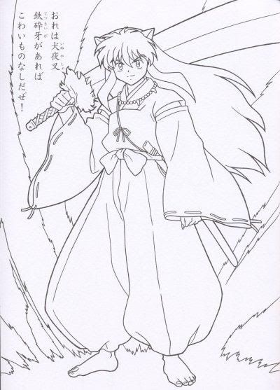 inuyasha demon Colouring Pages  Anime coloring pages  Pinterest