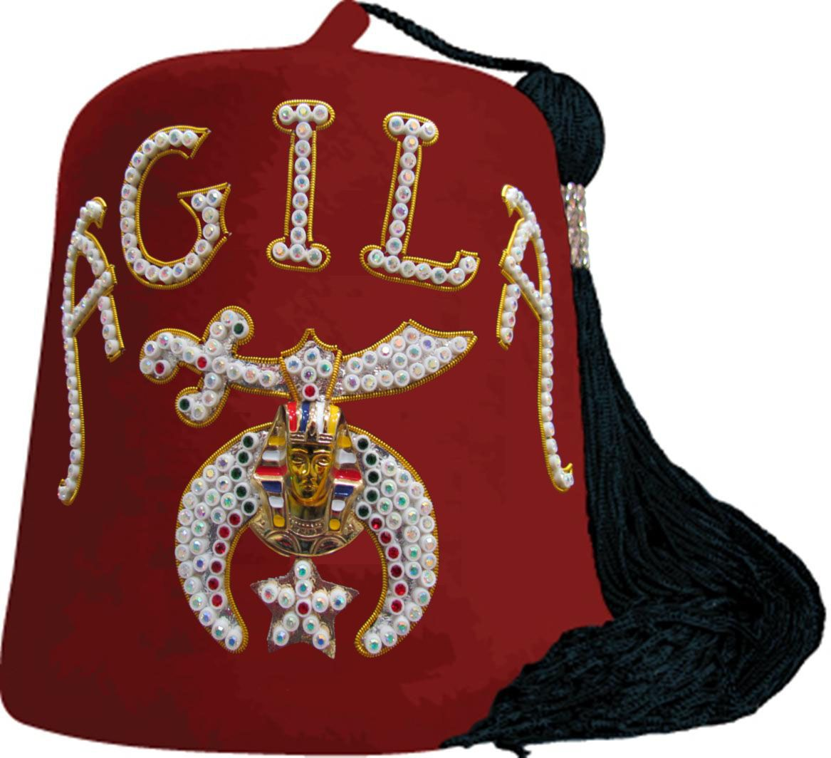 Mead Artworks Embroidery Design: Large Shriner Fez 7.50 inches H x ...