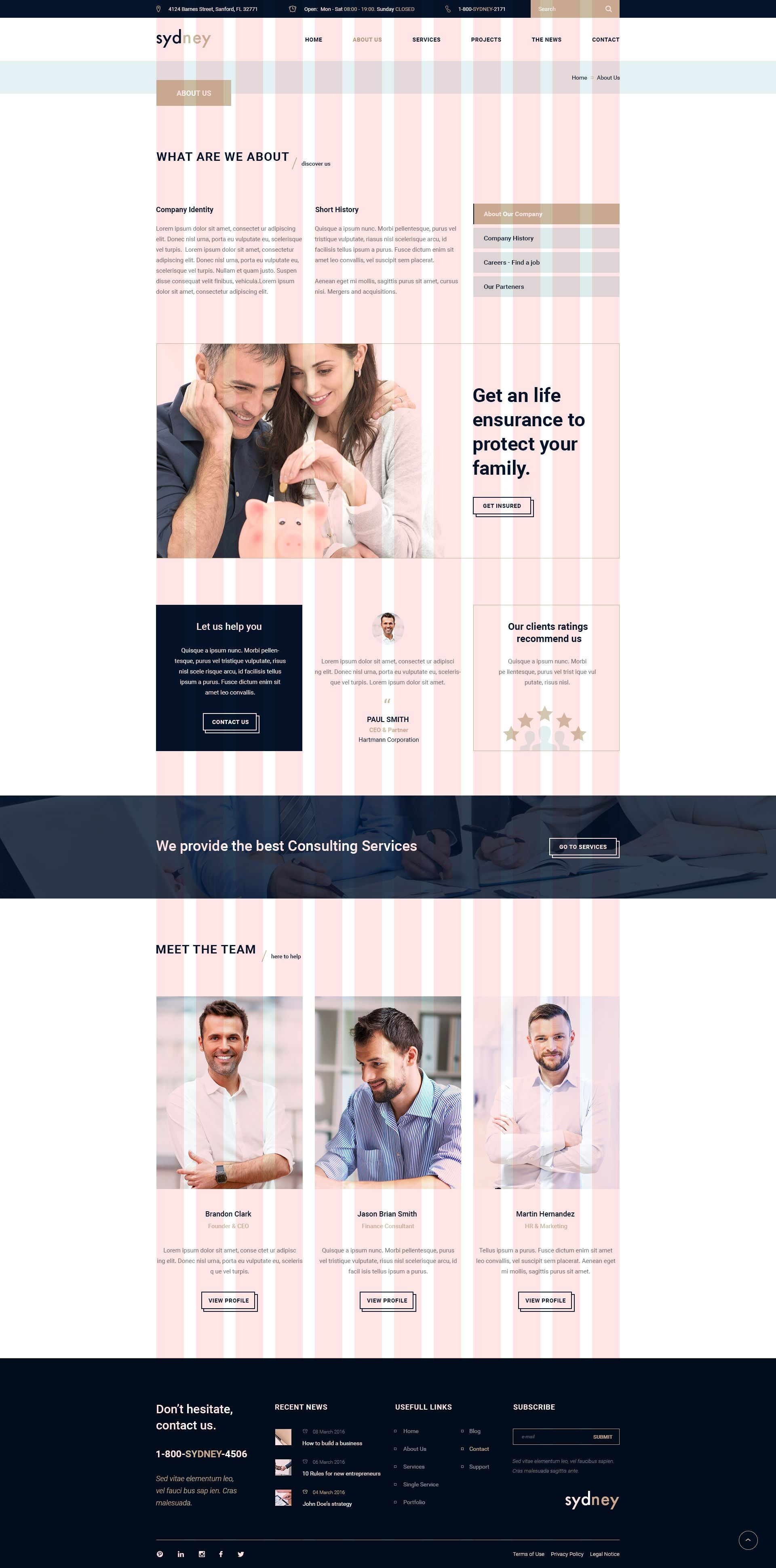 Sydney - Multiuse Financial Business HTML5 & CSS3 Template ...