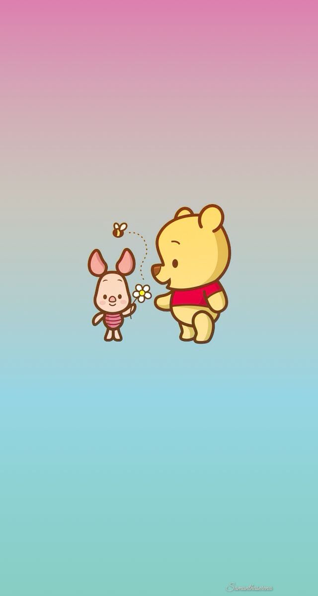 Winnie the pooh piglet iphone lock screen home screen for Wallpaper home cartoon