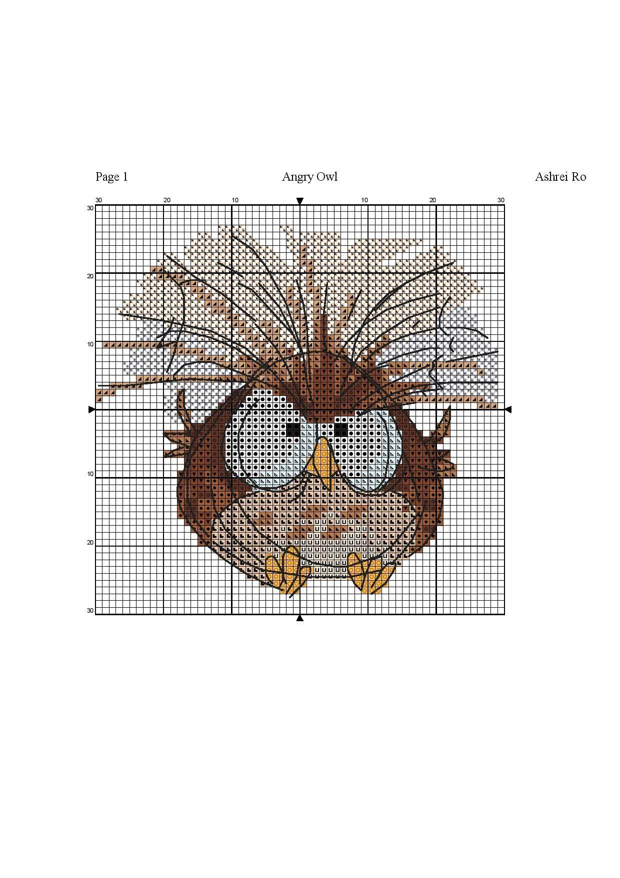 Another owl. | вышивка | Pinterest | Punto de cruz, Puntos y ...