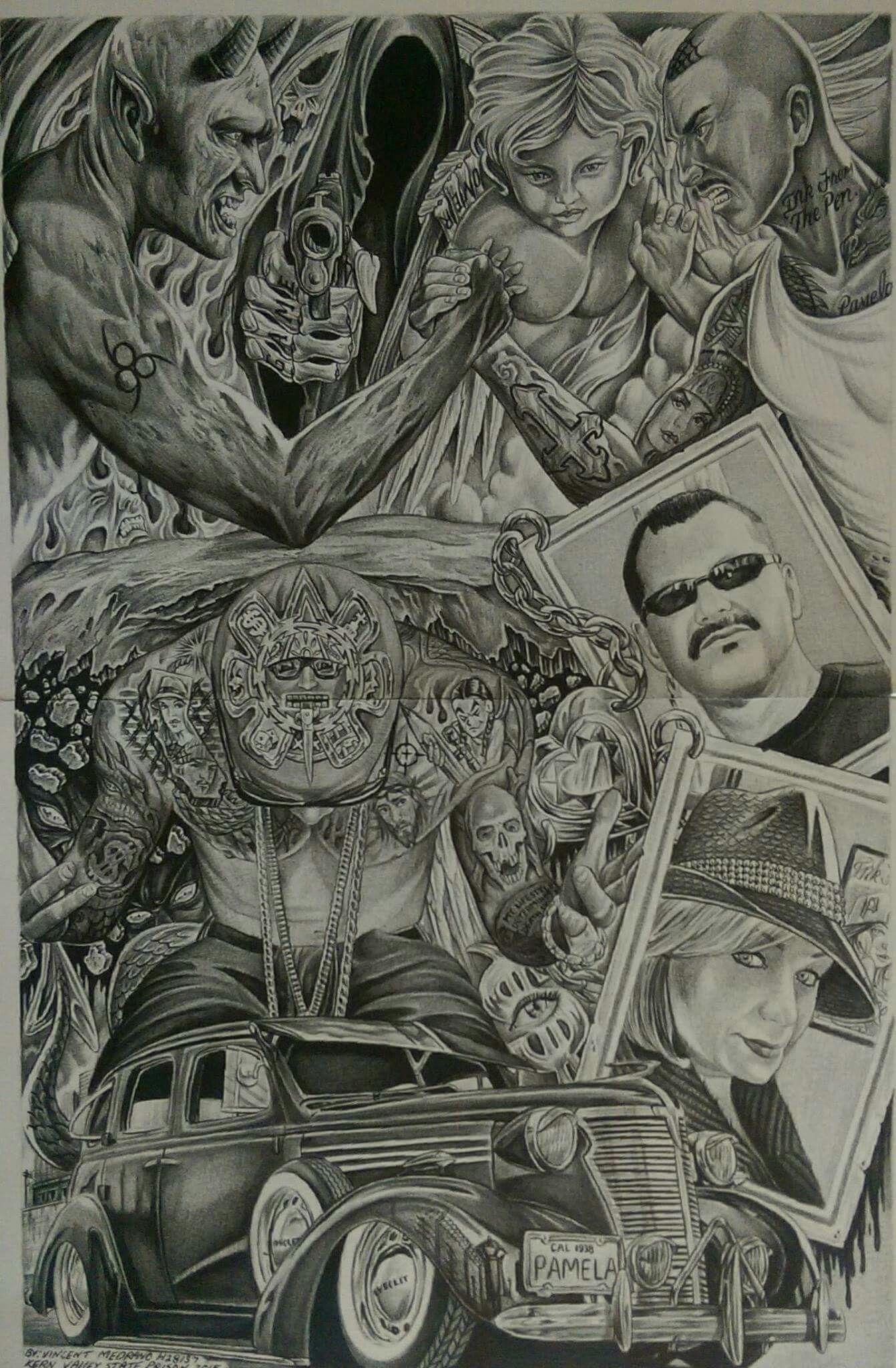 Res: 1342x2048, Prison Art, Chicano Art, Beautiful Drawings, Awesome Tattoos, Lo... -  Res: 1342×2048, Prison Art, Chicano Art, Beautiful Drawings, Awesome Tattoos, Lowrider, Tattoo Ide - #1342x2048 #amazingtattoos #Art #Awesome #BEAUTIFUL #Chicano #cutetattoos #Drawings #gorgeoustattoos #Prison #res #shewolftattoo #tattoos #tattoosforchildren