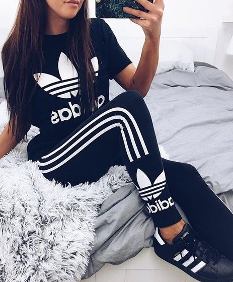 adidas leggings and shirt