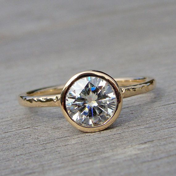 Forever Brilliant Moissanite Engagement Ring by McFarlandDesigns