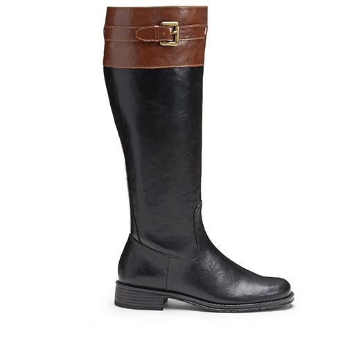 Lifestride Womens Black Boot Boots Racey Wide Calf Riding