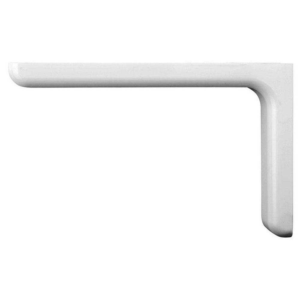 Everbilt 9 1 In X 5 8 In White Designer Shelf Bracket Eb 0036 Wt In 2020 Shelf Brackets Wall Shelf Brackets