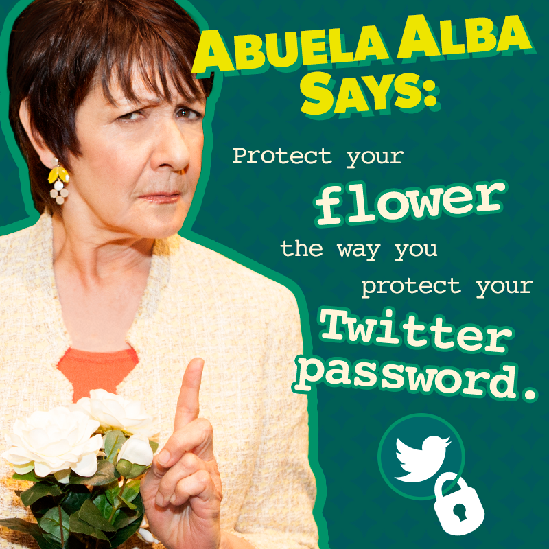 Don't share it with just anyone. #AbuelaAlbaSays #SinlessSunday