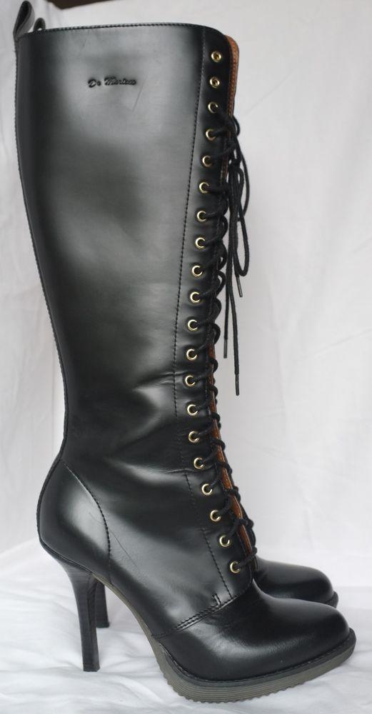 20182df93cab Doc Martens Dr. Martens Gilda High Heel Knee High Black Boots US 7 ...