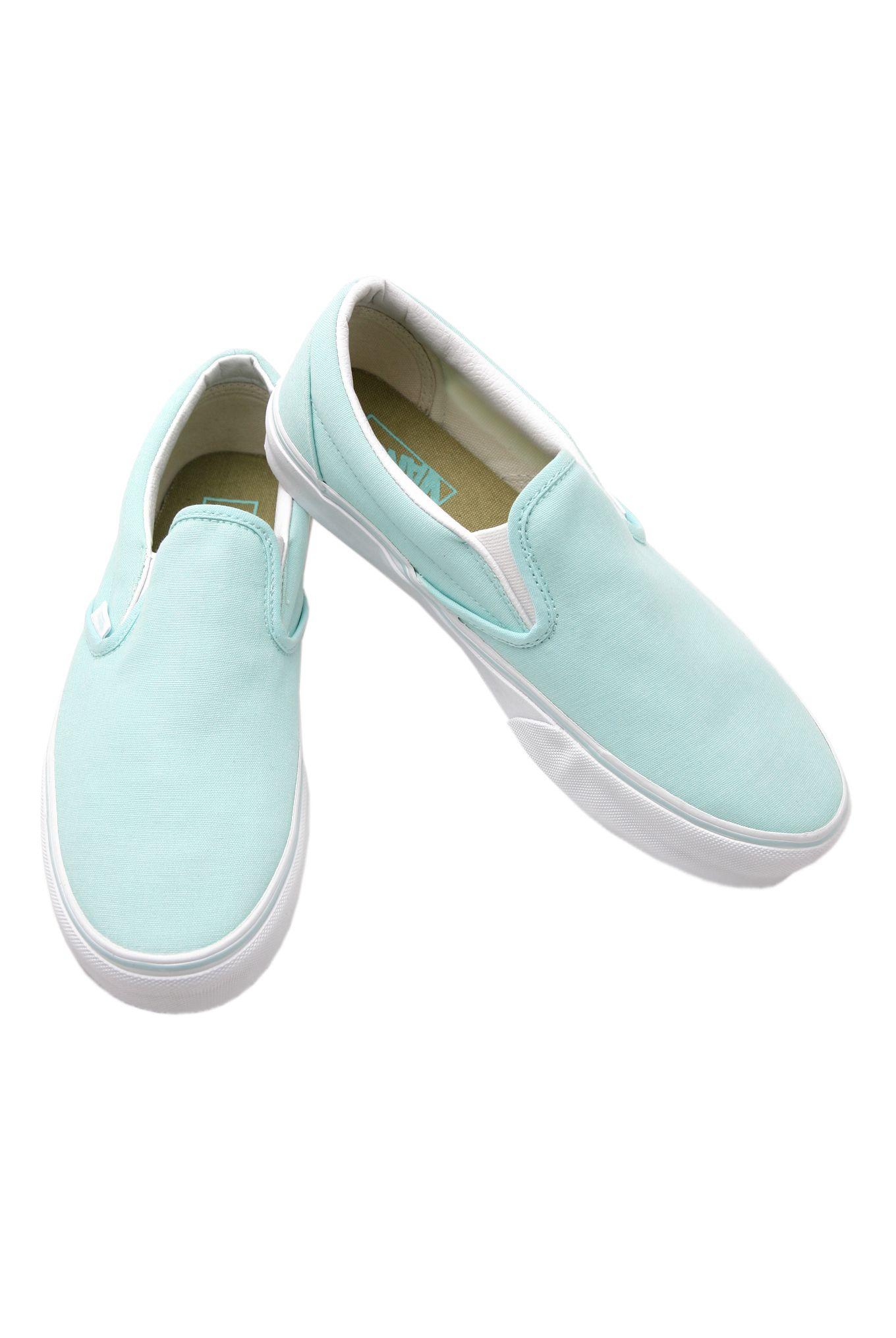 Vans Mint Slip-Ons | Slip on, Cute vans