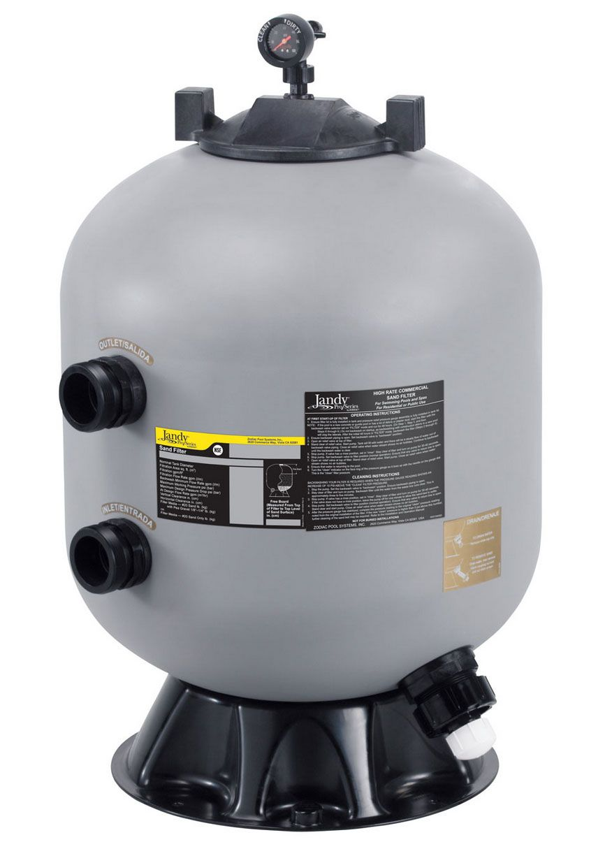 A Jandy salt filter for swimming pools. Swimming pool