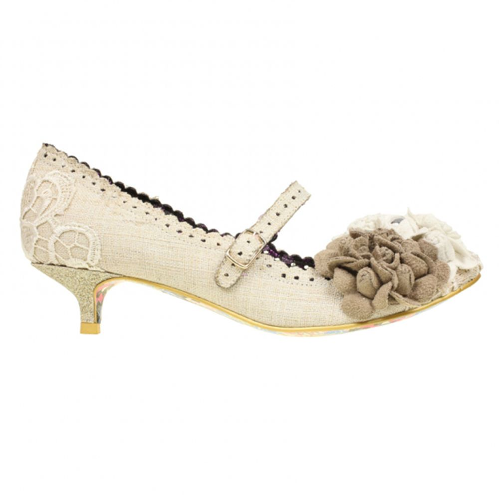 Details about Irregular Choice Daisy Dayz Gold Vintage Style