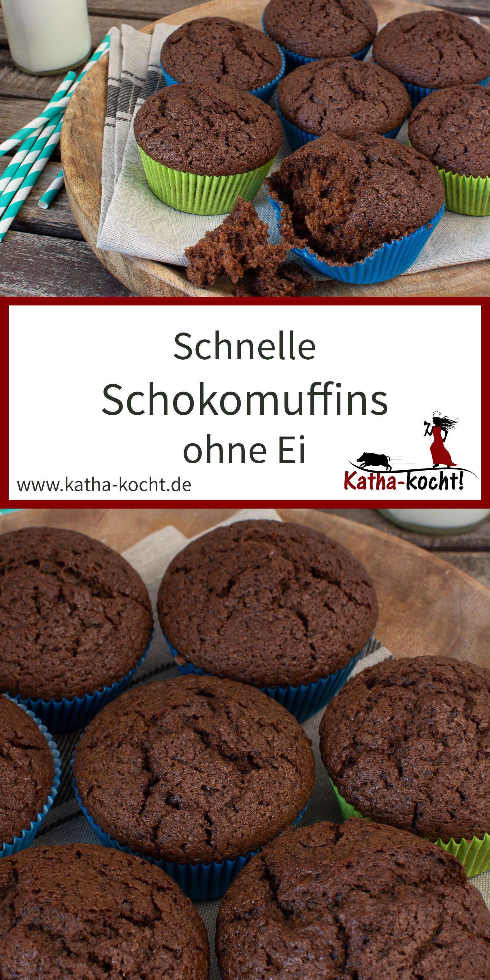 Photo of Muffin al cioccolato veloce senza uova