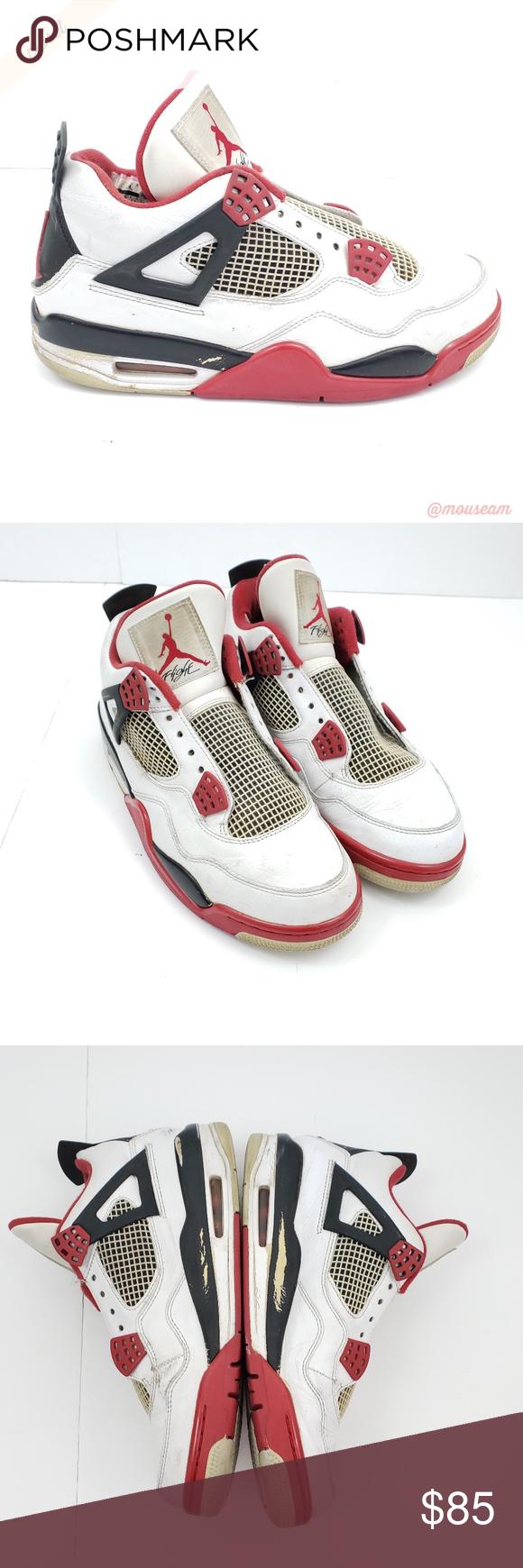 new concept c9267 28b54  Nike  2012 Air Jordan 4 Retro Fire Red Sneakers Nike - 2012 Air Jordan