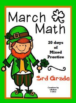 Mixed 3rd grade math practice in March Mixed 3rd grade math practice in March