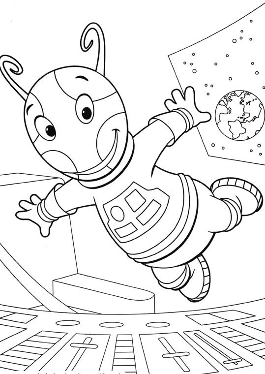 Backyardigans Uniqua Skips High Coloring Pages | Coloring book ...