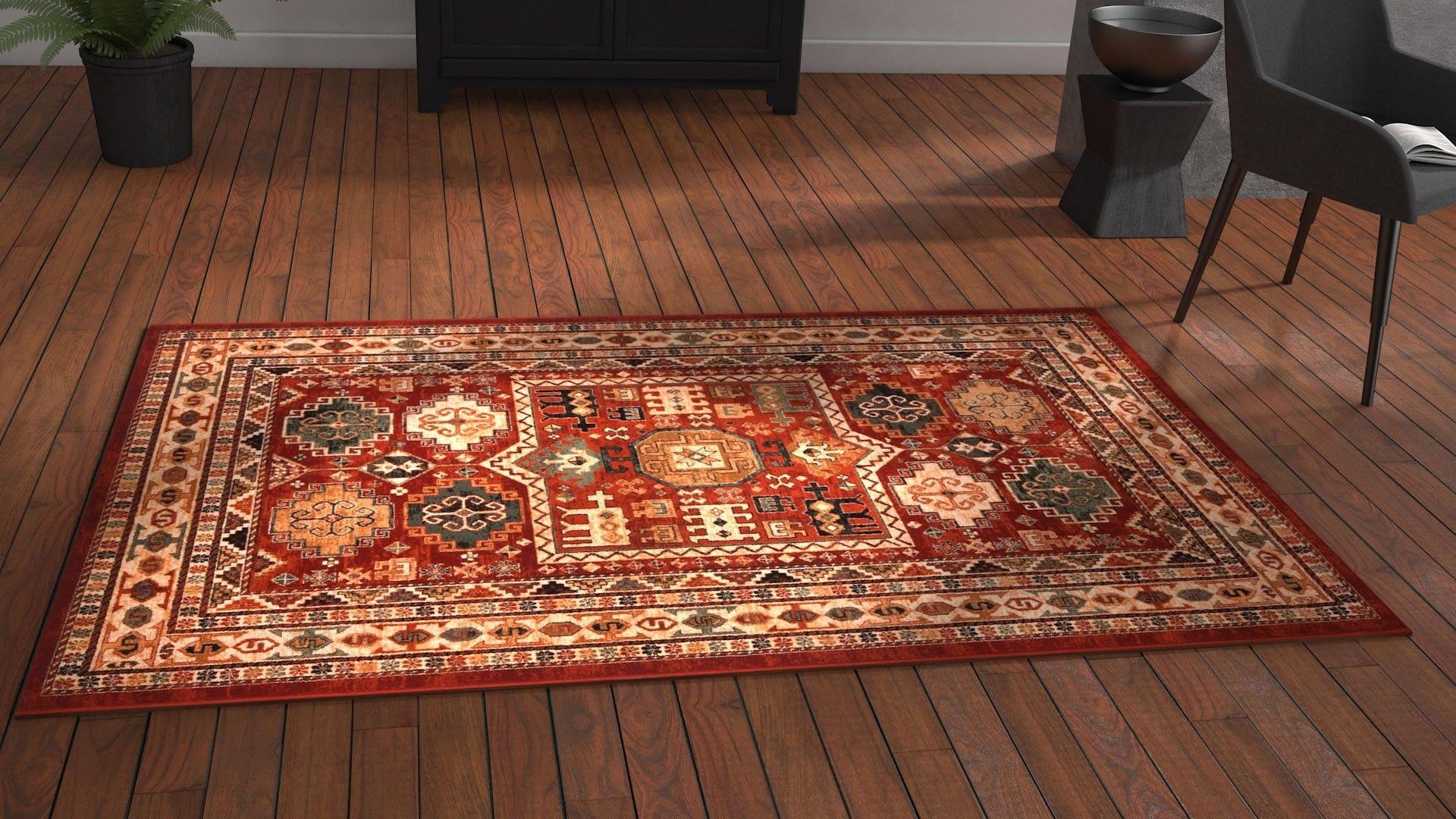 Tapis Salon Couleur Rouille tapis classique katoun (avec images) | tapis, saint maclou