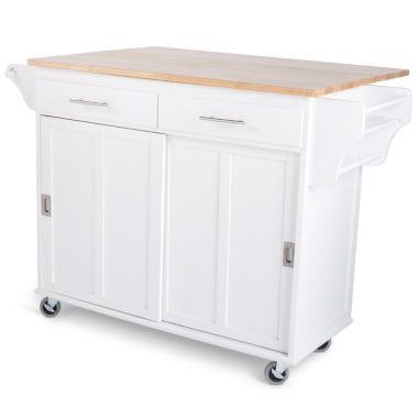 Sliding Door Kitchen Cart Doors Island