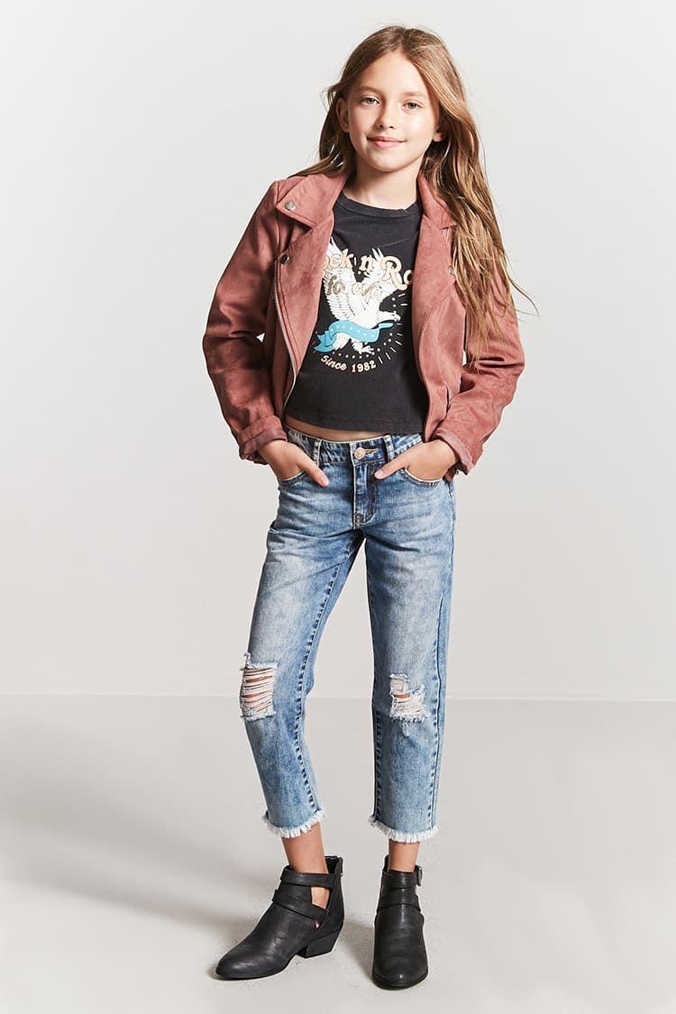 Jeans Cortos Con Rotos Topscortos Ropa Para Ninas Ropa Ropa Linda Para Ninas