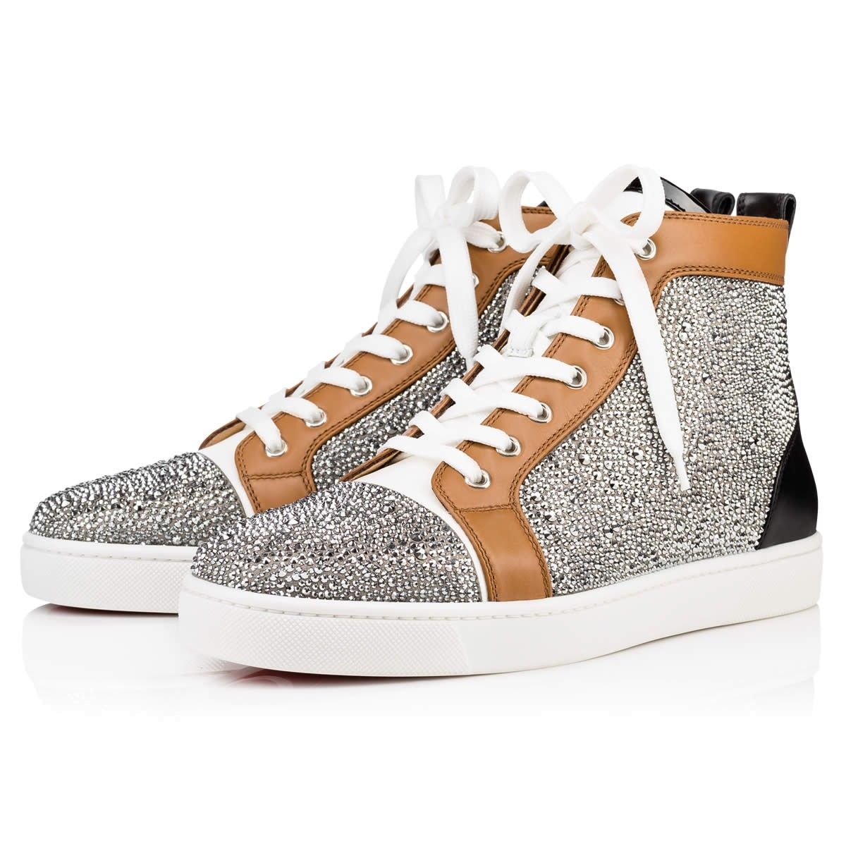 christian louboutin sneakers crystal