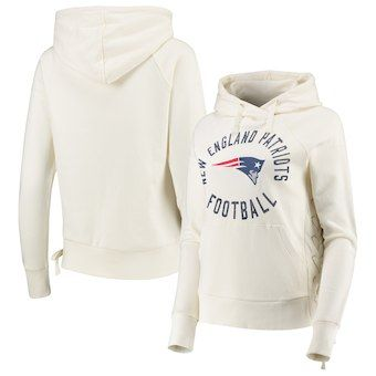 New England Patriots Touch by Alyssa Milano Women s Weekend Raglan Pullover  Hoodie – White cf7047fed