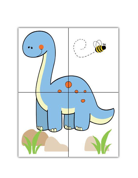 Dinosaur Nursery Decal Long Neck Boy Dino Wall By Decampstudios