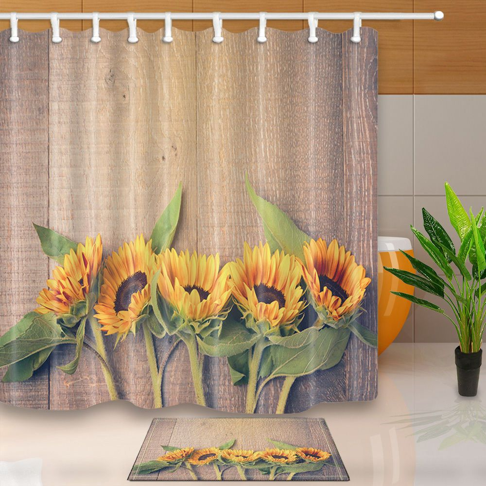 Details About The Sunflower Theme Waterproof Fabric Home Decor