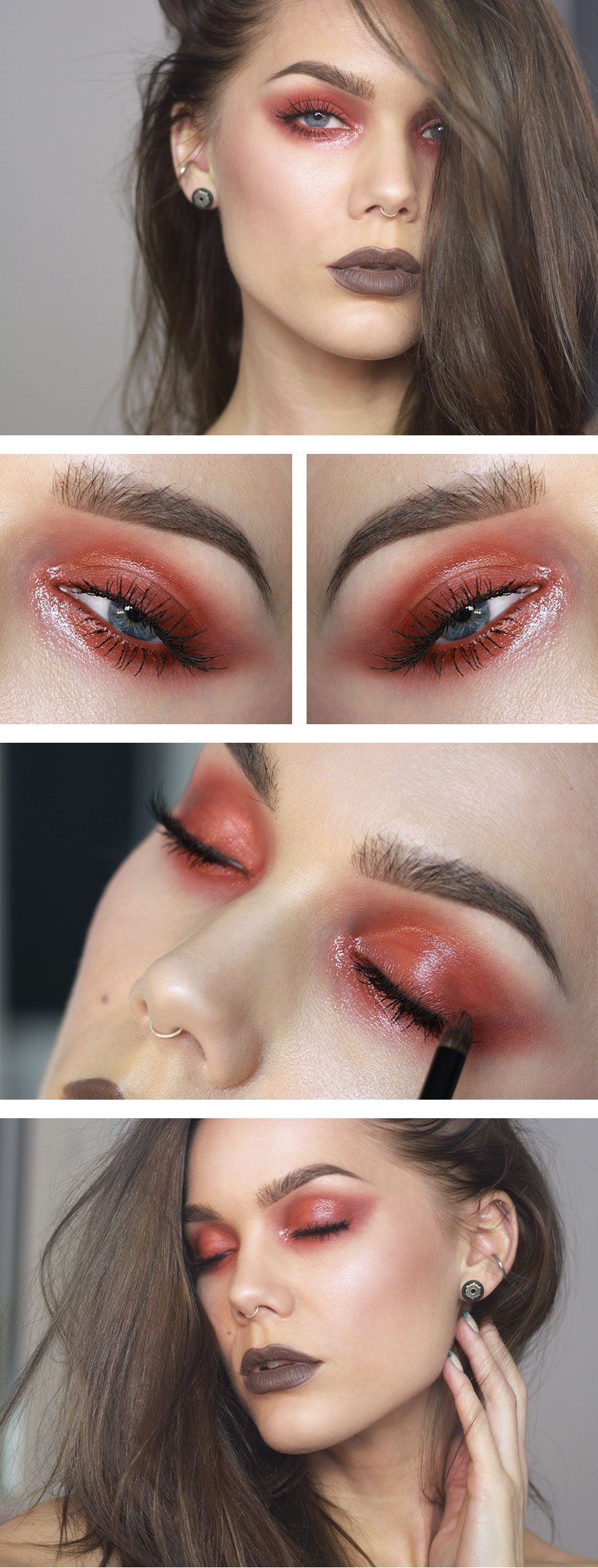 Glossy red ♥ Linda Hallberg - incredible makeup artist. Very inspiring -- from her daily makeup blog. | Inspiration for upcoming projects by Adagio Images at www.adagio-images.com/modeling or www.facebook.com/adagioimages | #makeup #makeupinspiration ♥