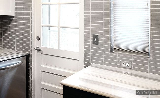 Long Subway Gray Backsplash Marble Tile This Is A Cool Way To Stack The Home Decor Pinterest Grey Tilearbles