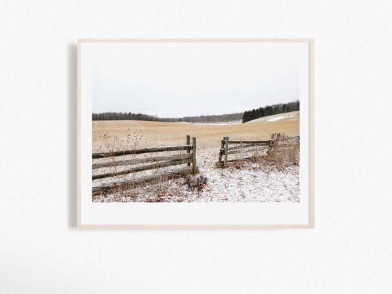 Quebec Winter Landscape Photography Print Canada Landscape Photograph Neutral Winter Art Winter Landscape Photography Landscape Photography Winter Landscape