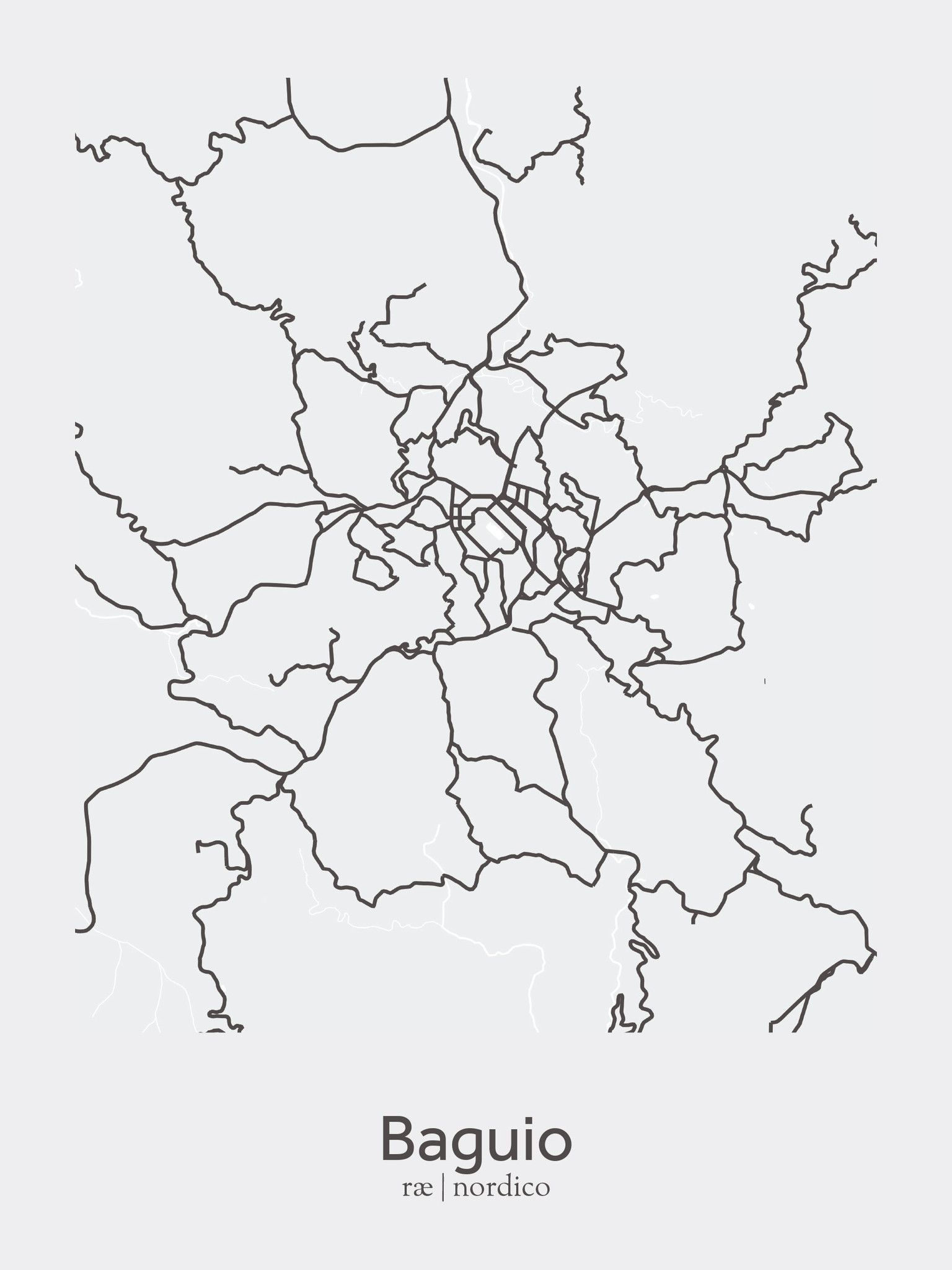 Baguio city philippines map print maps pinterest philippine baguio city philippines map print publicscrutiny Images