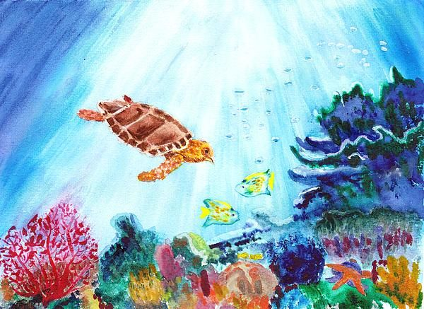 Coral Reef Coral Reef Art Coral Painting Coral Watercolor