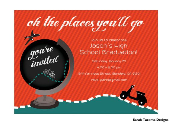 Oh the places youll go party invitation world travel party oh the places youll go party invitation world travel party invite printable junglespirit Gallery
