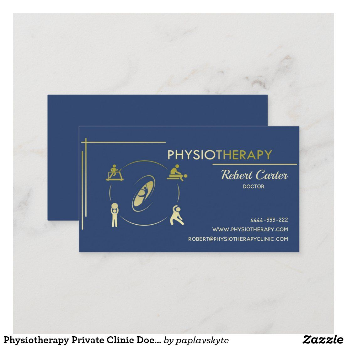 Physiotherapy Private Clinic Doctor Physiotherpist Business Card Zazzle Com In 2021 Business Card Inspiration Visiting Card Design Visiting Cards