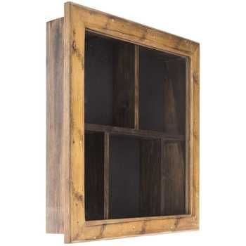 14 X 14 Walnut Shadow Box With Dividers Shadow Box Shadow Box Display Case Shadow Boxes