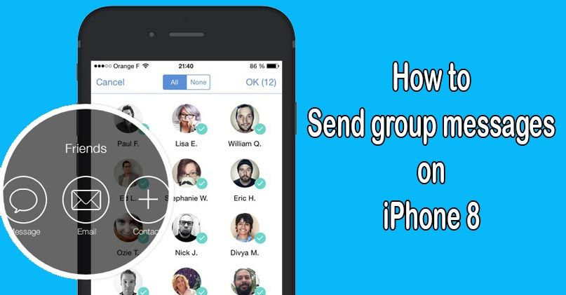 How To Send Group Text Messages On Iphone 8 Easily Group Text Text Messages Messages